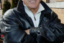 """Frank Vincent, who plays Frank Leotardo on the HBO television series """"The Sopranos,"""" takes part in a news conference outside SilverCup Studios, where the """"The Sopranos"""" films,  in Queens, New York, Wednesday, Feb. 22, 2006. Leotardo and other cast members of """"The Sopranos"""" helped unveil the """"Sopranos"""" Chevrolet Monte Carlo race car that Clint Bowyer will drive in the UAW-Daimler Chrysler 400 in Las Vegas on March 12, the same day as the season premiere of """"The Sopranos.""""  (AP Photo/Henny Ray Abrams)"""