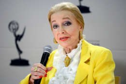 """NORTH HOLLYWOOD, CA - JANUARY 31: Actor Anne Jeffreys participates in the Academy of Television Arts & Sciences Presents """"Retire From Showbiz? No Thanks!"""" panel at the Academy of Television Arts & Sciences on January 31, 2013 in North Hollywood, California. (Photo by Phil McCarten/Invision for the Academy of Television Arts & Sciences/AP Images)"""