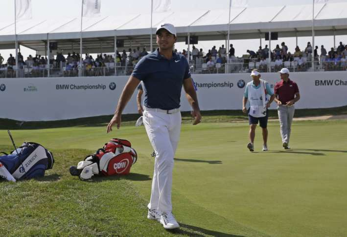 Jason Day leads on day two at BMW Champs