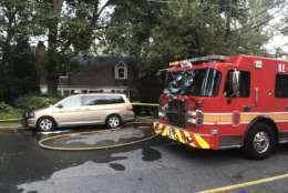 Firefighters responded at 4:20 p.m. Sunday to a home on Danbury Road near Holland Avenue. (Courtesy Montgomery County Fire and Rescue Service)