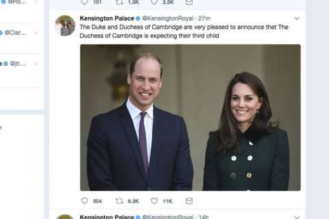 Pregnant Kate has acute morning sickness for 3rd time