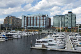 A view of the 309-slip marina and yacht club at The Warf. The D.C. project has revitalized a mile of shore along the Southwest Waterfront. More than 2,000 people are expected to live there and thousands more will work in shops, storefronts and office space. (Matthew Borkoski/PN Hoffman)