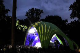 Merriweather Park's new Chrysalis stage shows there is potential for the park's cultural programming to diversify, said OPUS 1 curator and producer Ken Farmer. (Courtesy Howard Hughes Corp.)