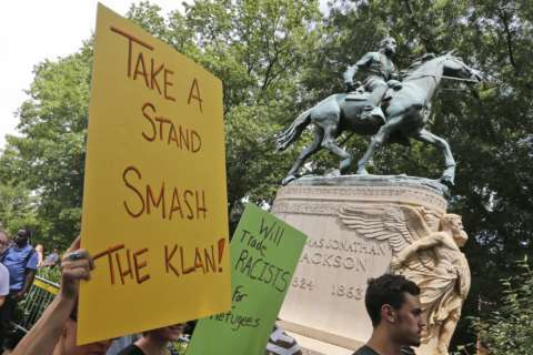 Camera, apparent tripwire found near Charlottesville statue