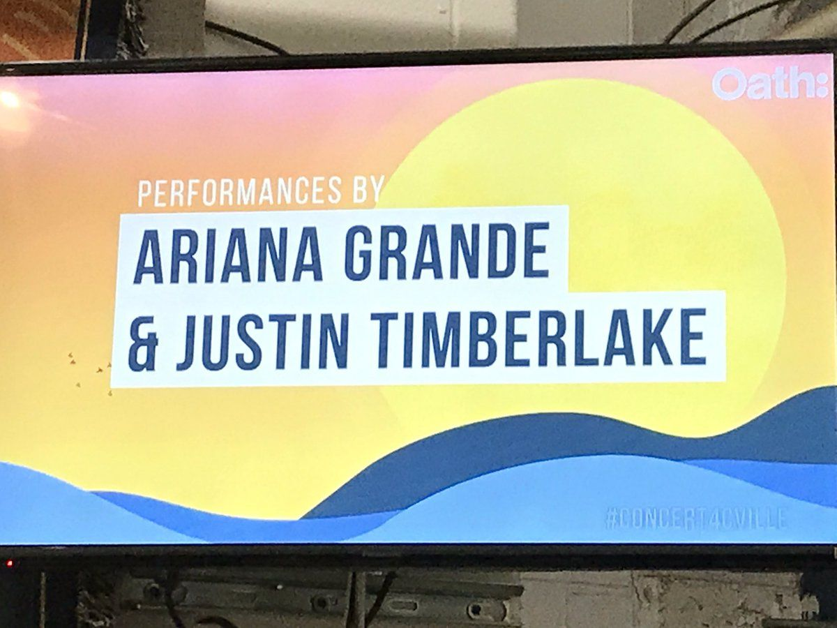 Next up, performances by Ariana Grande and Justin Timberlake.  (WTOP/Michelle Basch)