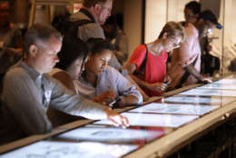WASHINGTON, DC - SEPTEMBER 14:  An interactive touch screen is part of a exhibit about civil rights lunch counter sit-ins at the Smithsonian's National Museum of African American History and Culture on the National Mall September 14, 2016 in Washington, DC. Filled with exhibits and artifacts telling the story of the first Africans in the United States and their descendents, the 400,000-square-foot museum will open to the public on September 24.  (Photo by Chip Somodevilla/Getty Images)