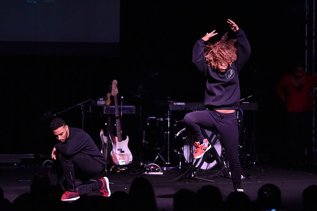 """WASHINGTON, DC - JANUARY 19:  """"Dances of Resistance"""" directed by Karen Bradley Smooth and EZ Hand Dance performed onstage at the Busboys and Poets' Peace Ball: Voices of Hope and Resistance at National Museum Of African American History & Culture on January 19, 2017 in Washington, DC.  (Photo by Mike Coppola/Getty Images for Busboys and Poets)"""