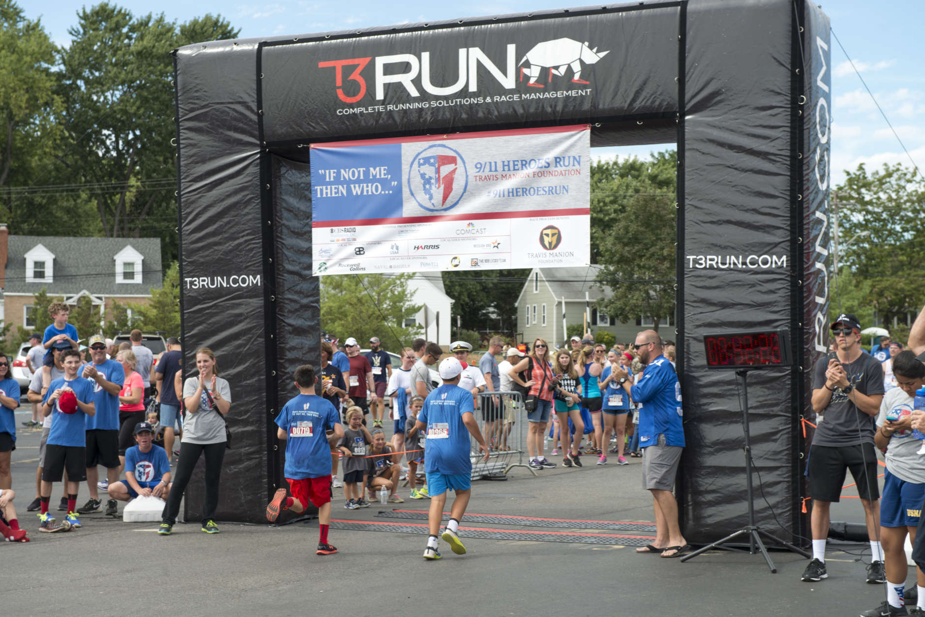 The 9/11 Heroes 5K run in Annapolis, Maryland, is among 50 Heroes Runs held in the US and abroad. (Courtesy Harrison Hart)