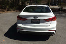 The normal Elantra is a solid compact but not very quick or sporty to drive so the Hyundai Elantra Sport steps in to add some spice to the small sedan. (WTOP/Mike Parris)