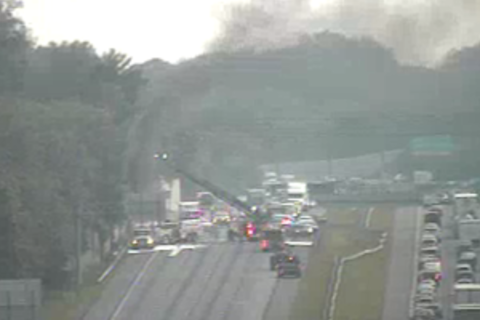 I-95 southbound reopens in Elkridge after truck fire