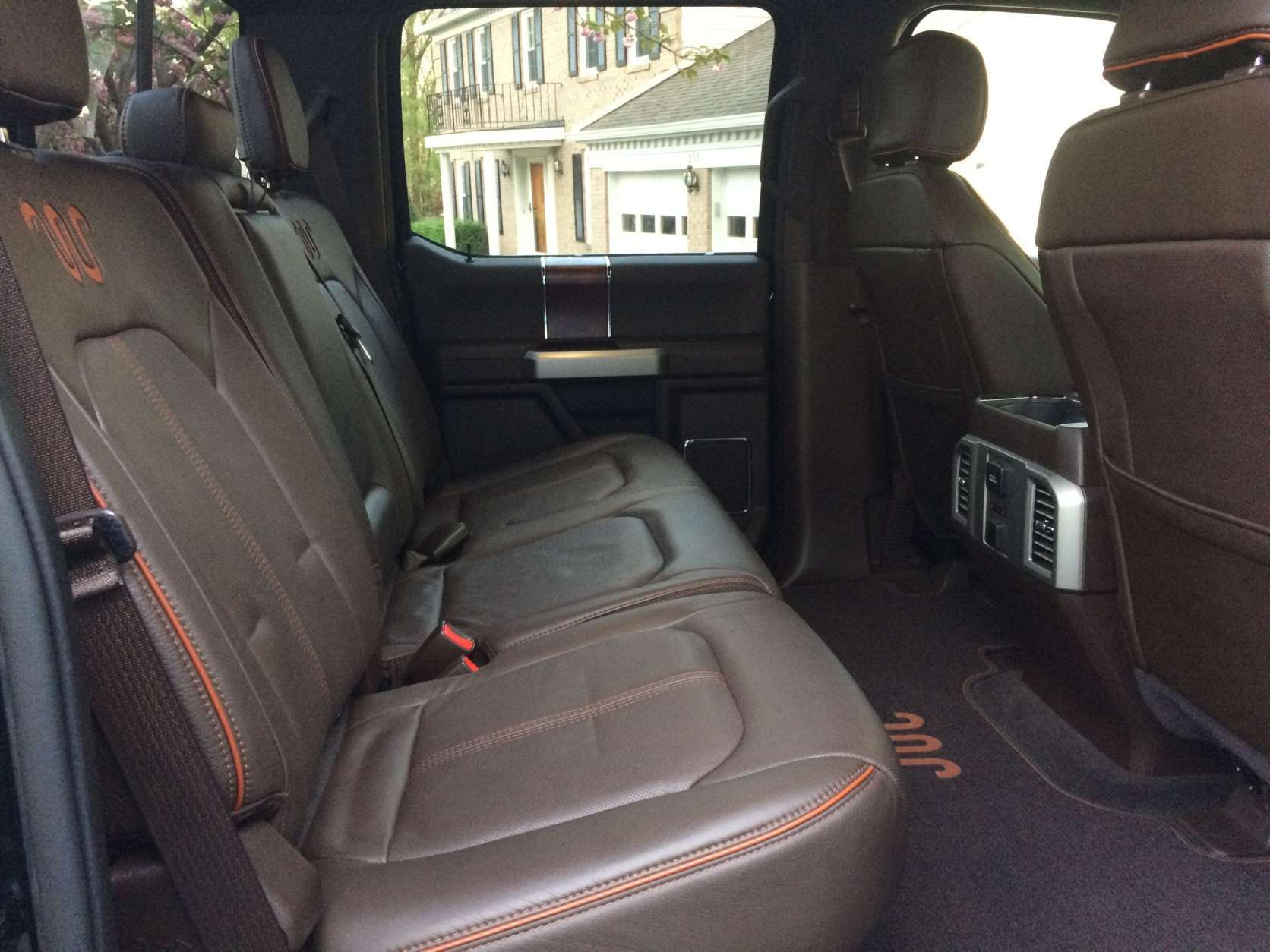 The back seats have plenty of space for three adults with ample leg and head room. (WTOP/Mike Parris)