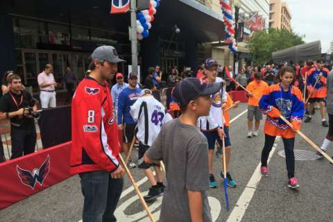 Some special hockey players get a surprise visit from Caps star Ovechkin