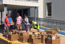 Some of the supplies collected by Virgin Islands Relief in Philadelphia. (Courtesy Ben Steed)