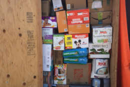 Just some of the supplies collected by Virgin Islands relief. (Courtesy Ben Steed)