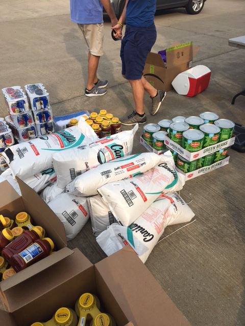 Some of the supplies collected by Virgin Islands Relief. The group's organizers say there is a major demand for more since the islands were devastated by Hurricane Irma.  (Courtesy Ben Steed)