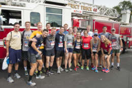 Naval Academy Midshipmen participate in the 2016 9/11 Heroes Run in Annapolis, Maryland. (Courtesy Harrison Hart)