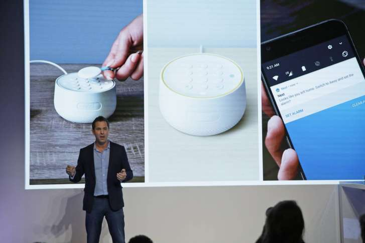 Maxime Veron, Head Of Product Marketing For Nest Labs, Talks About The  Features Of The Nest Secure Alarm System During An Event Wednesday, Sept.
