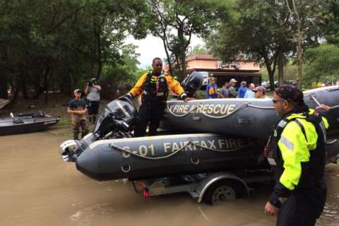 Local first responders face rising waters in Harvey's aftermath