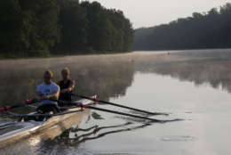 Jones is pictured here training for the Paralympics. He and teammate Oksana Masters won bronze.  (Courtesy Rob Jones Journey)