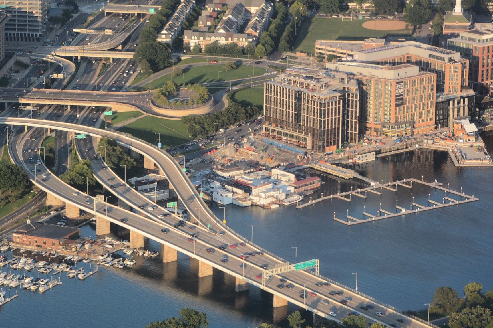The Southwest Freeway and Maine Avenue will be the main routes toward the Wharf. The grand opening is scheduled on October 12, 2017. (WTOP/Dave Dildine)