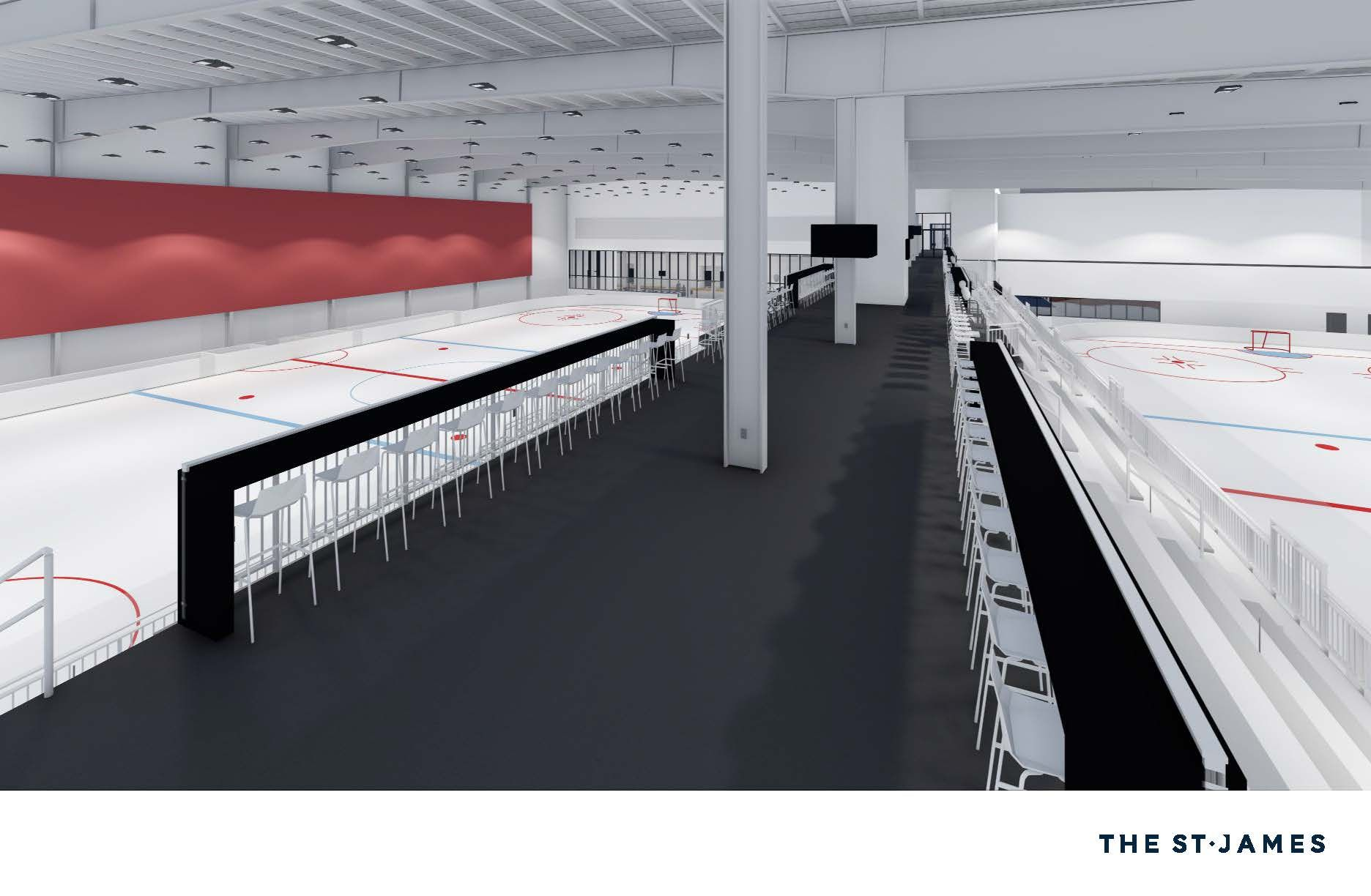 The complex includes two NHL-sized ice rinks. (Courtesy St. James Sports Complex)