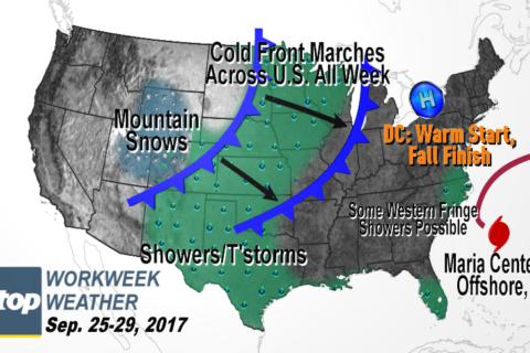 Workweek weather: Finally feeling like fall by Friday