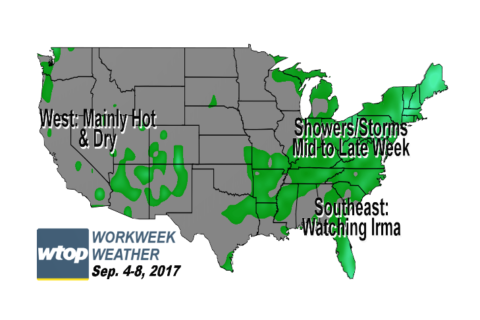 Workweek weather: Big temperature swings, plus more rain