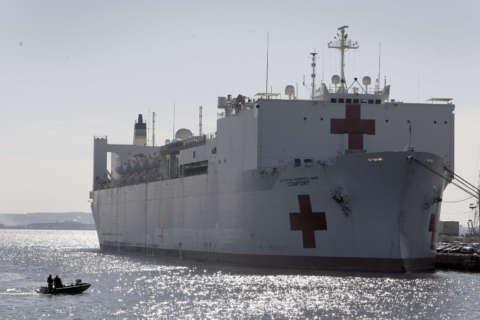 Navy ship Comfort preparing to head to Puerto Rico