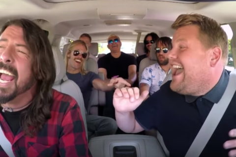 Watch: Foo Fighters jam to classic hits on 'Carpool Karaoke'