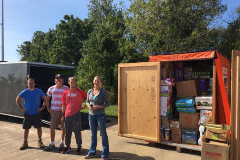 Island residents band together for hurricane relief effort