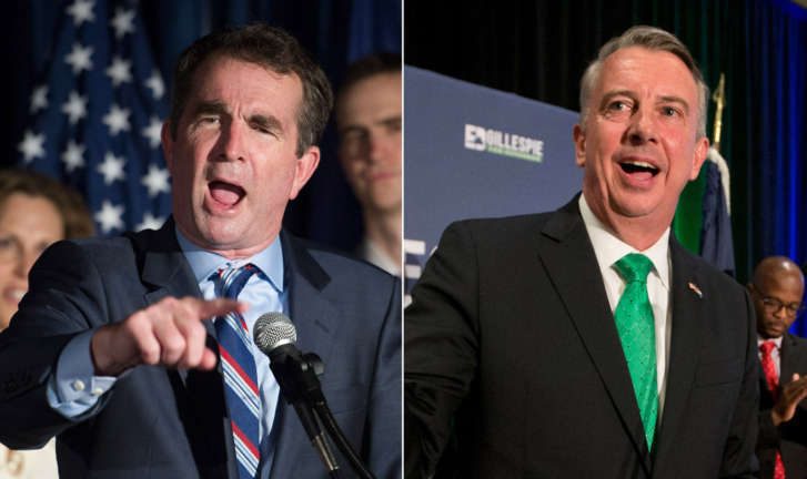 Northam, Gillespie running in tight Va. gubernatorial race