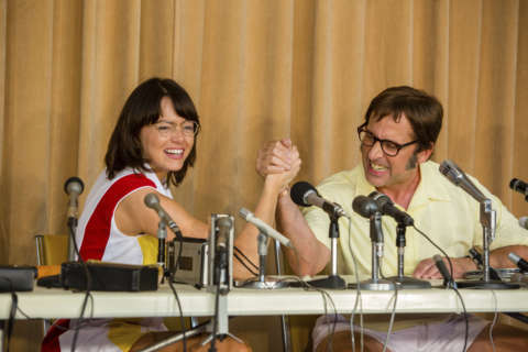 Movie Review: Emma Stone, Steve Carell hold serve in 'Battle of Sexes'