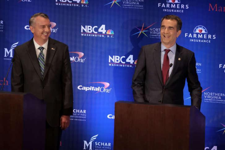 Gillespie, Northam spar over taxes, Trump