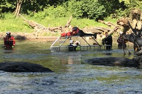 Loudoun County swift water rescue team preps for action in Potomac River