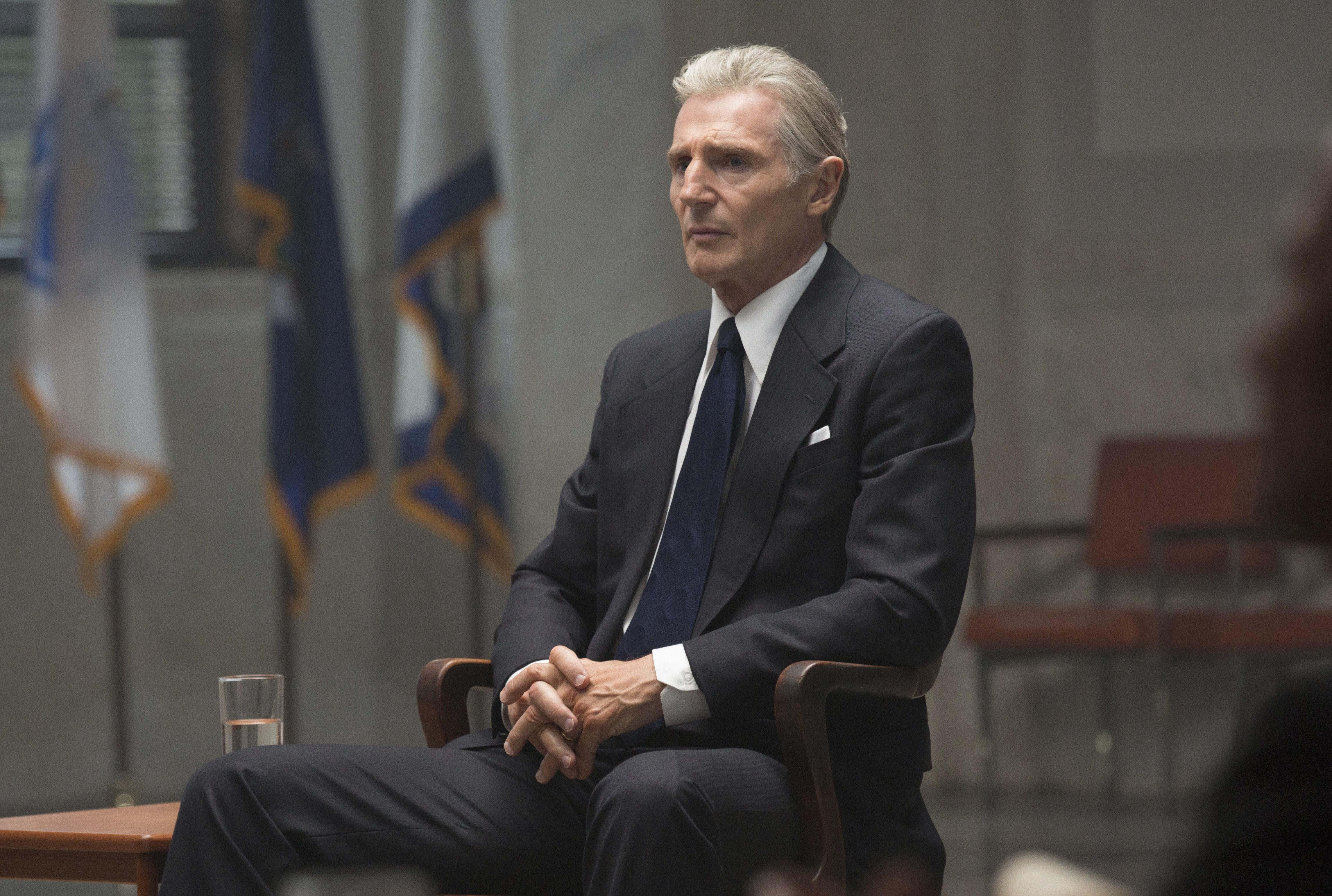 QA Liam Neeson brings down White House as Deep Throat in Mark