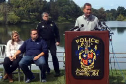 Laura Wallen's father Mark spoke at a news conference, while his daughter was still missing in 2017. (Courtesy Montgomery County Police)