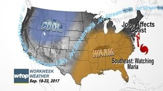 Workweek Weather: Some showers from Jose possible this week