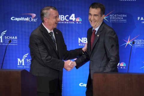Northam, Gillespie unite against hate, spar over statues, the economy