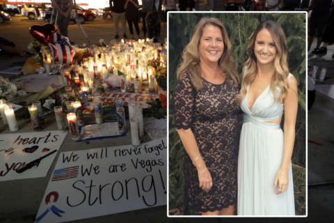 Maryland native injured in Vegas shooting takes first steps