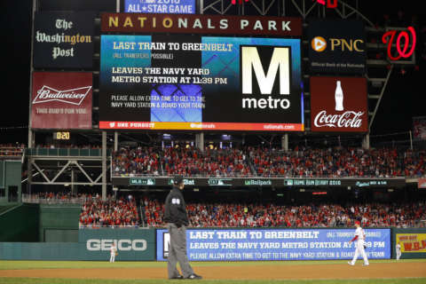 Good news, Nats fans: Metro staying open late for Thursday's big game