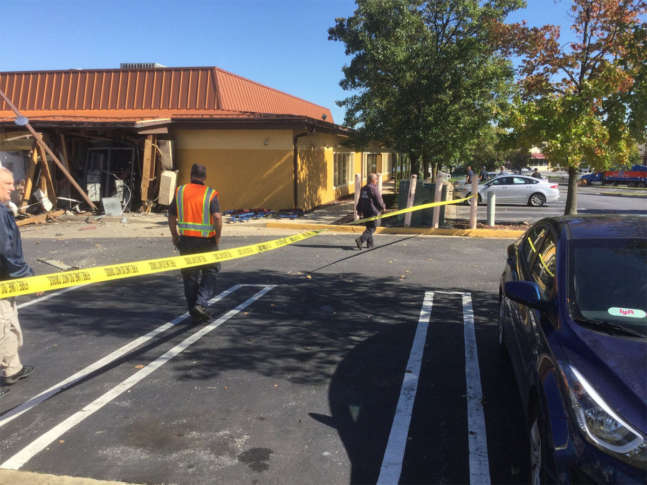 An explosion at a Laurel, Maryland, Olive Garden blew out the back wall of the restaurant and scattered debris. Two employees suffered minor injuries.