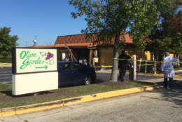 ... Maryland, Olive Garden blew out the back wall of the restaurant and scattered debris. Two employees suffered minor injuries.