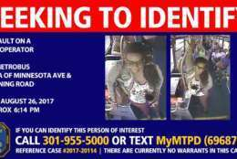 Opal Brown (above) allegedly threw urine on a Metrobus driver. (Courtesy Metro Police Department)