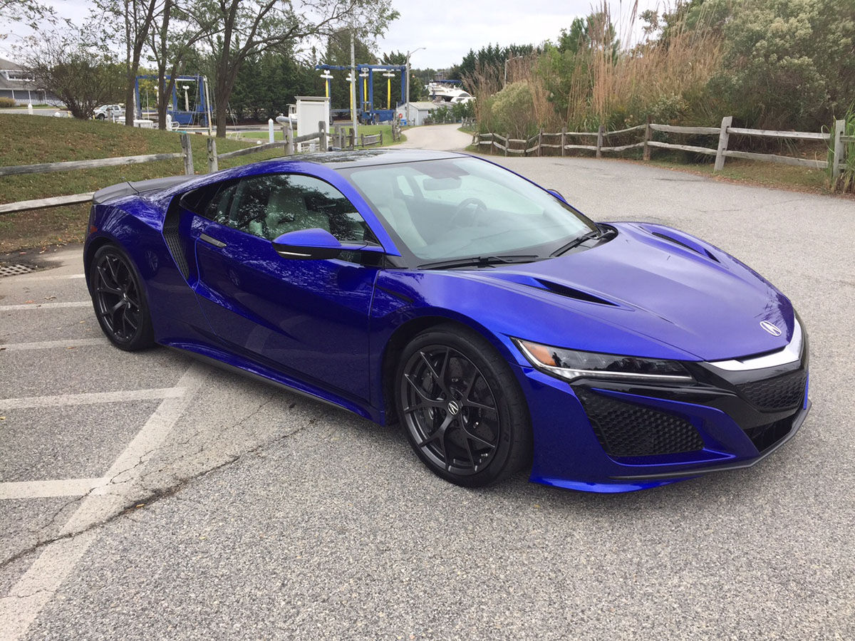The Acura NSX features a twin turbo V6, 3 electric motors. (WTOP/John Aaron)