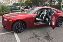 """The Wraith's doors open """"backwards,"""" with hinges on the rear instead of the front. (WTOP/John Aaron)"""