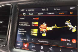 The display in the challenger shows all 707hp are available. (WTOP/John Aaron)