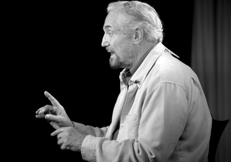 In this photo taken Monday Sept.12,2011 actor Hal Linden talks during an interview in Los Angeles. (AP Photo/Richard Vogel)
