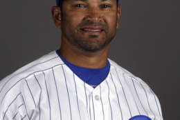 This is a 2015 photo of Chicago Cubs bench coach Dave Martinez. This image reflects the Cubs active roster as of Monday, March 2, 2015, when the photo was taken. (AP Photo/Morry Gash)