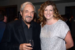 """Hal Linden and Alison Brower attend the """"Broadway To Hollywood"""" Cocktail Event - Inside held at Sunset Towers on Wednesday, March 25, 2015 in Los Angeles, California. (Photo by Tonya Wise/Invision/AP)"""