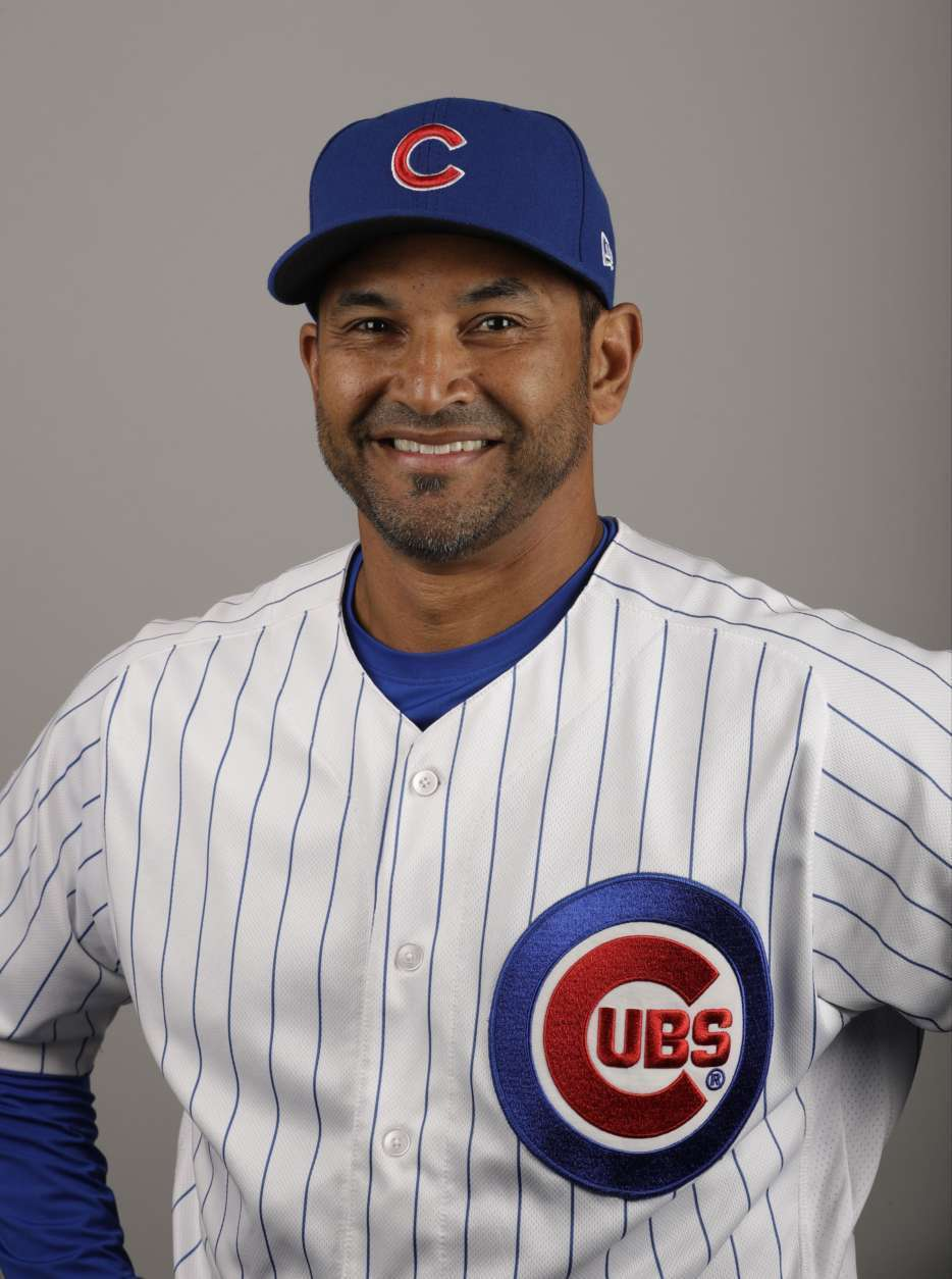This is a 2017 photo of Dave Martinez of the Chicago Cubs baseball team. This image reflects the Cubs active roster as of Tuesday, Feb. 21, 2017, when this image was taken. (AP Photo/Morry Gash)